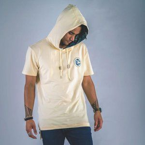 Cuzy T Mens Yellow Short Sleeve Kamran Camo Hoodie